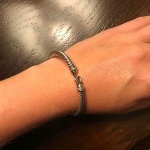 David Yurman Cable Buckle Bracelet w Diamonds